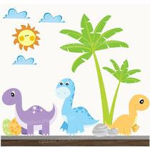 Adesivo Quarto Infantil Dinossauro Zoo Safari Decorativo