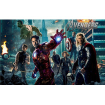 Adesivo Decorativo Infantil - Super Heróis Marvel Vingadores