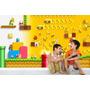 Adesivo Papel Parede Painel Infantil Cenário Mario Bros M04