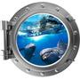 Adesivo Decoração Parede Escotilha Golfinhos Kids002 70x65cm