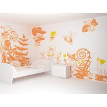 Adesivo Decorativo Kit Decoração Infantil - Tema Natureza