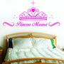 Adesivo Decorativo Infantil Princesa Coroa Com Nome