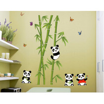 Adesivo Decorativo Infantil Urso Panda C\ Bambu