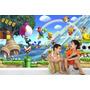 Adesivo Papel Parede Painel Infantil Cenário Mario Bros M03