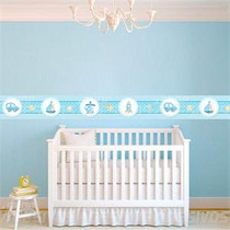 Faixa Adesiva Decorativa Parede Para Quarto Bebe Menino