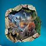 Adesivo Decorativo Parede Buraco 3d Parque Dos Dinossauros