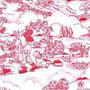 Tecido Adesivo Campo Vermelho