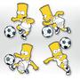 Adesivo De Parede - Futebol Bart Simpson - Santos Simpsons