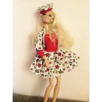 Roupas Bonecas Barbie Lote Com 05 Conjuntos