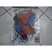 Papel De Parede Homem Aranha Marvel 3d Adesivo Decoração