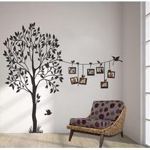 Adesivo Decorativo De Parede Arvore Pra Fotos Com Pássaro