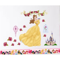 Adesivo Parede Decorativo Princesas Disney Bela Rln123