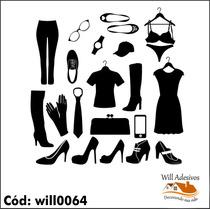 Adesivo Para Loja Boutique De Roupas E Acessórios Will0064