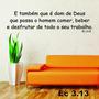 Adesivo Decorativo De Parede Frases Bíblicas Ec3.13