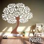 Adesivo N29 Árvore Galhos Tronco Em Design Folhas De Parede