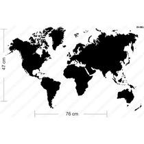 Adesivo De Parede Decorativo Mapa Mundi Decore Sala Box Copa