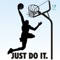 Baskete 2 Just Do It Adesivo De Parede Decorativo Rln123