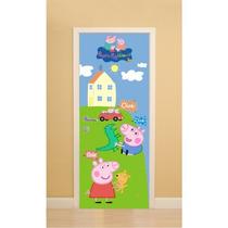 Adesivo 123 Porta Quarto Parede Guarda Roupas Peppa Pig