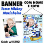 Banner Aniversário Nome Foto Tema Mickey Marinheiro Will292