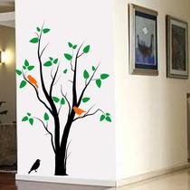 Adesivo Decorativo De Parede Arvore Pássaro Galho