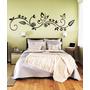Adesivo Decorativo Parede Floral Borboleta Galho Faixa 1 Mt