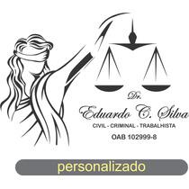 Adesivo Parede Justiça Advogado Personalizado - Frete Grátis