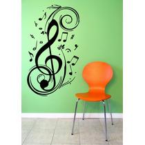 Adesivo Decorativo Parede Sala Quarto Notas Musicais Música