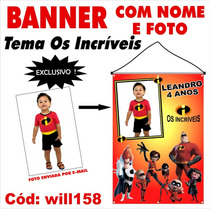 Impressão De Banner Fotografico Em Lona Os Incriveis Will158