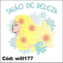 Adesivo Digital Salão De Beleza Cabelo Com Flores Will177