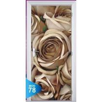 Adesivo 123 Porta Quarto Sala Rosas Flores 78