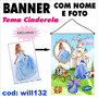 Banner Aniversário Nome E Foto Tema Cinderela Will132