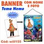 Banner P Festa Infantil C Nome Foto Tema Disney Nemo Will155