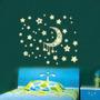 Adesivos Que Brilham No Escuro Lua/ Estrelas - Frete Grátis