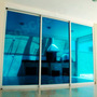 Película Adesiva Filme Azul Espelhado Janelas Portas Vidros