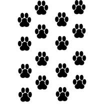 Adesivo De Parede Decorativo Kit Patinhas De Cachorro
