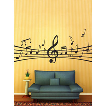 Adesivo Decorativo De Parede - Notas E Instrumentos Musicais