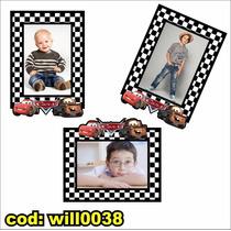 Adesivo Infantil Para Montagem Com Foto Tema Carros Will0038