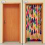 Adesivo Decorativo De Porta - Lápis De Cor - 044mlpt