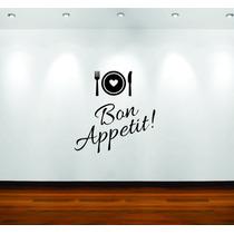 Adesivos Parede Cozinha Bon Appetit Bom Apetite Restaurante