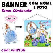 Impressão Banner Fotografico - Cinderela 1 X 1m Will136