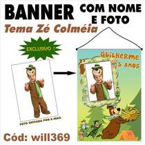 Urso Zé Colméia Banner Digital Impresso Em Lona Will369