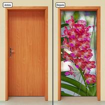 Adesivo Decorativo De Porta - Orquídeas - 263mlpt