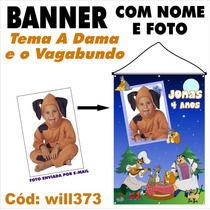 Banner Impresso Em Lona Digital A Dama E O Vagabundo Will373
