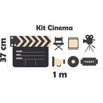 Adesivo De Parede Sala Kit Cinema Claquete Filme Filmadora