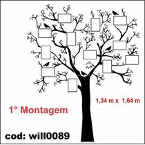 Adesivo Árvore Para Montagem Fotos Família Will0089