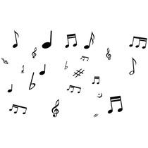 Adesivo Decorativos 35 Notas Musicais Para Carro, Casa