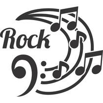 Adesivo Decorativo Rock Notas Musicais Papel Parede