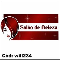 Adesivo De Parede Cabelo De Mulher Salão De Beleza Will234