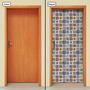 Adesivo Decorativo De Porta - Ladrilho Hidráulico - 027mlpt