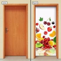 Adesivo Decorativo De Porta - Salada De Frutas - 347mlpt